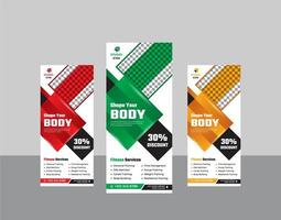 fitness gym roll up stand banner modern mall