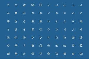 Satz minimaler Symbole für mobile Anwendungen.
