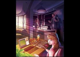 online klass och arbeta hemma vektor