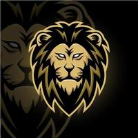 lejonhuvudmaskot vektor