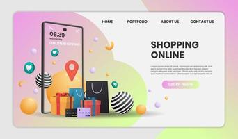 Zielseite der Website des Online-Lieferservices