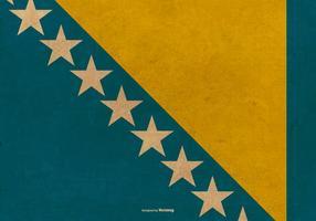 Grunge flagga av Bosnien