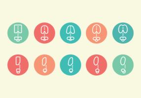 Ribcage Piktogramm Icons vektor