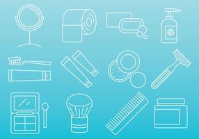 Schönheit und Hygiene Icons vektor