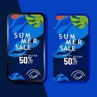 sommarförsäljning mobil marknadsföringsmall