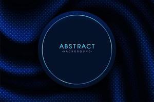 realistiska blå prickmönster med rund ram för att infoga text vektor
