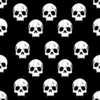 sömlösa mönster med tappat skallehuvud på svart