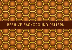 Beehive Bakgrundsmönster vektor