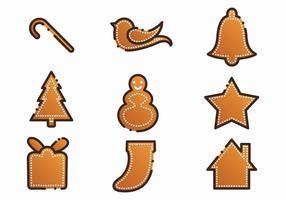 Gratis Xmas Gingerbread Lebkuchen Set vektor