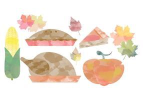 Thanksgiving Aquarell Vektoren