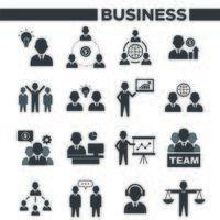 Geschäftsleute Symbole gesetzt