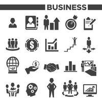 Symbole für Unternehmensführung und Personalwesen festgelegt vektor