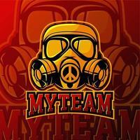 Esport mein Team Gaming Logo Abzeichen vektor