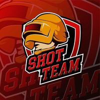 Esport Helm Gaming Logo Abzeichen vektor