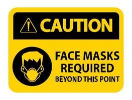 Gesichtsmasken über dieses Punktzeichen hinaus erforderlich vektor
