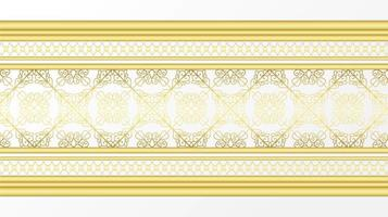 gyllene dekorativa decoartive gräns vektor