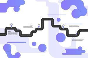 infographic geometrisk resa i modern stil