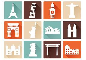 Free Landmark Icons Vektor