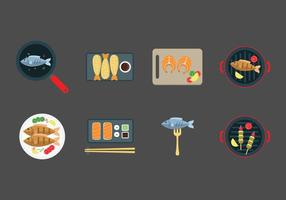 Gratis Fish Dishes Vector