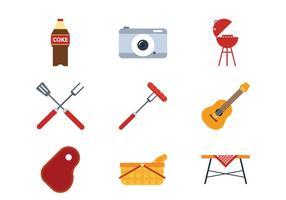 Picknick platt ikon vektor