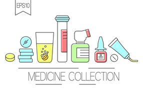 Fri medicin samling vektor