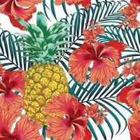 sömlösa mönster tropisk sommar vektor