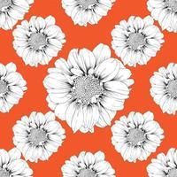 orange sömlösa mönster
