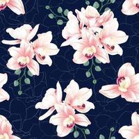 sömlösa mönster botaniska blommor
