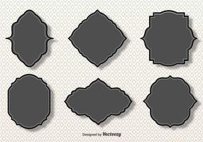 Einfache Vektor Grau Cartouches