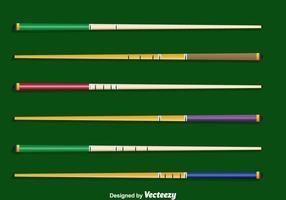 Pool Sticks Sammlung Vektor