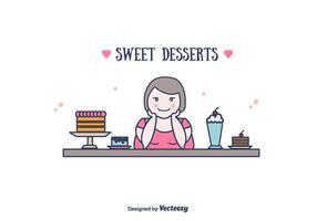 Süße Desserts Vektor