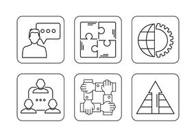 Gemeinsam arbeiten Icons