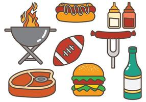 Kostenlose Tailgate Food Vector
