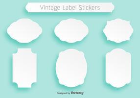 Einfache Vektor weiße flache Cartouches für Abzeichen