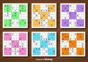 Vector Set Sudoku Spiel