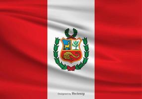 Vektor flagga av Peru