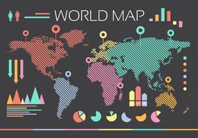 Welt Infografische Illustration