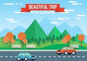 Freie Landschaft Vektor-Illustration