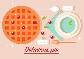Gratis Delicious Pie Vector Illustration