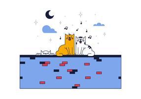 Kostenlose Katzen Vektor