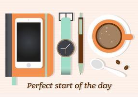 Kostenlose Kaffeepause Vektor-Illustration vektor