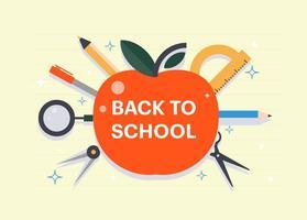 Free Flat zurück zu Schule Vektor-Illustration