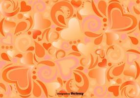Vektor-Muster mit ornamentalen Herzen und Formen