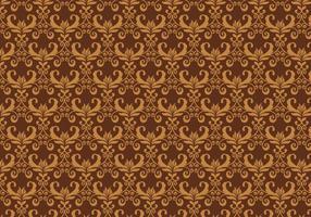 Braunes Vektor-Western-Flourish-Muster vektor