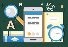 Free Flat Science und Tech Vektor-Illustration