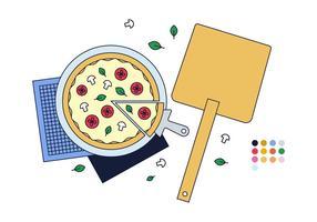 Freier Pizza-Vektor