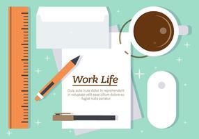 Freie Arbeit Leben Vektor-Illustration vektor