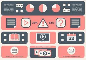 Free Flat Web Marketing Vektor-Illustration