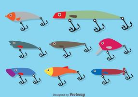 Fiske Lure Flat Vector