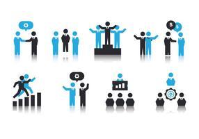 Freie Arbeit zusammen Icons